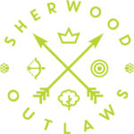 Sherwood Outlaws Brewery bright green logo