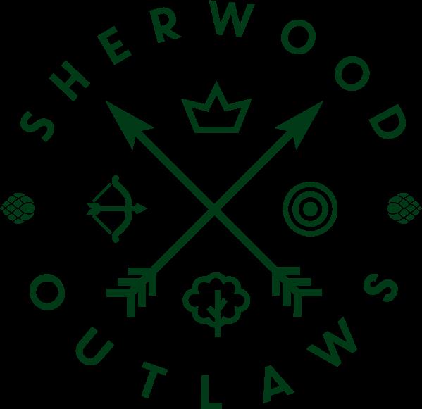 Sherwood Outlaws Brewery dark green logo