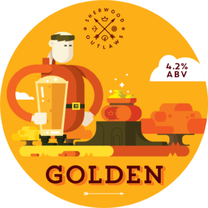Sherwood Outlaws Brewery golden pump clip